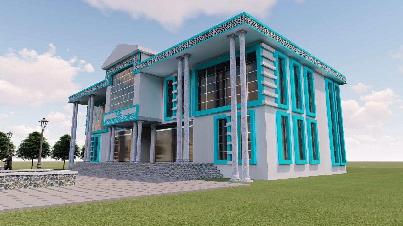 ayrancı belediyesi yeni hizmet binası