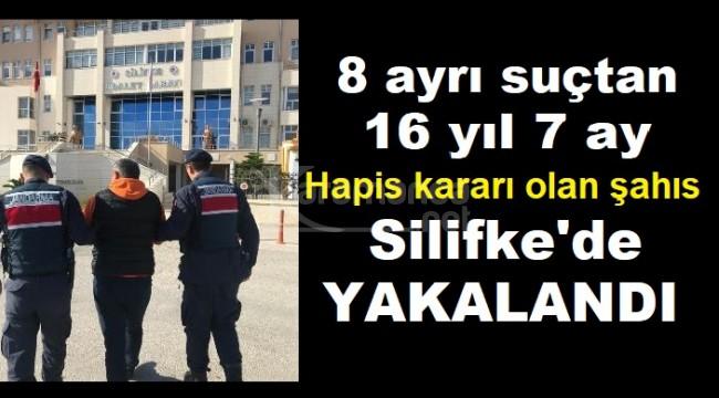 8 ayrı suçtan aranan şahıs Silifke'de yakalandı