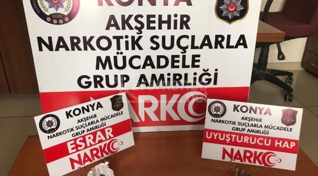 Akşehir'de uyuşturucu kullanılan kahvehaneye baskın