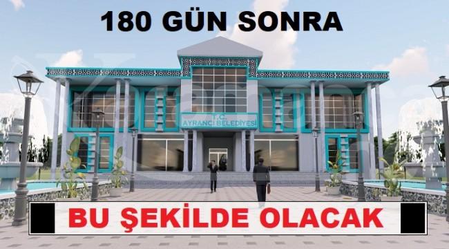 Ayrancı Belediyesi yeni hizmet binası için kolları sıvadı