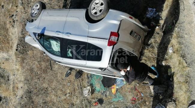 Bingöl'de takla atan otomobilde 4 yaralı