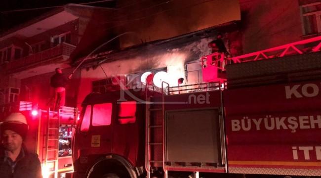 Doğanhisar'da ev yangını korkuttu