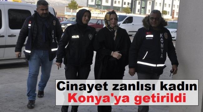 Eski kocasının sevgilisini öldüren kadın Konya'ya getirildi