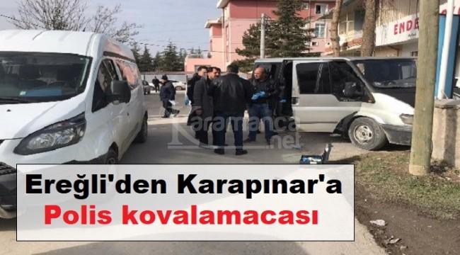 Kaçak göçmen taşıyan kamyonet Karapınar'da yakalandı