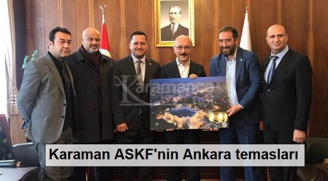 Karaman ASKF'nin Ankara temasları