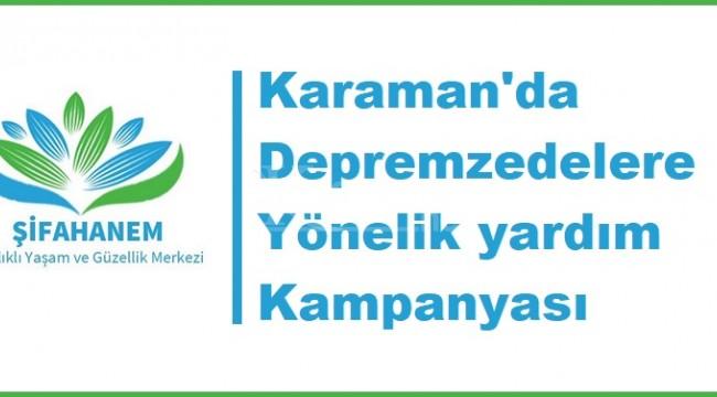 Karaman'da depremzedelere yönelik yardım kampanyası
