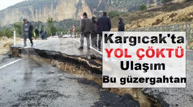Karaman-Silifke yolu yol çökmesi nedeniyle kapatıldı