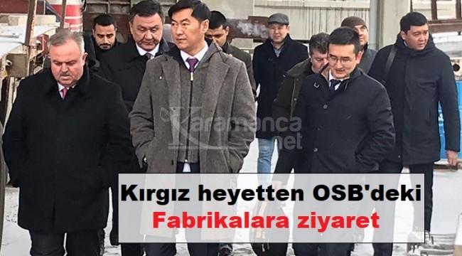 Kırgız heyetten OSB'deki fabrikalara ziyaret