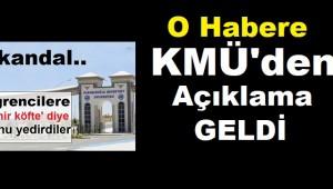 KMÜ'den O habere açıklama geldi