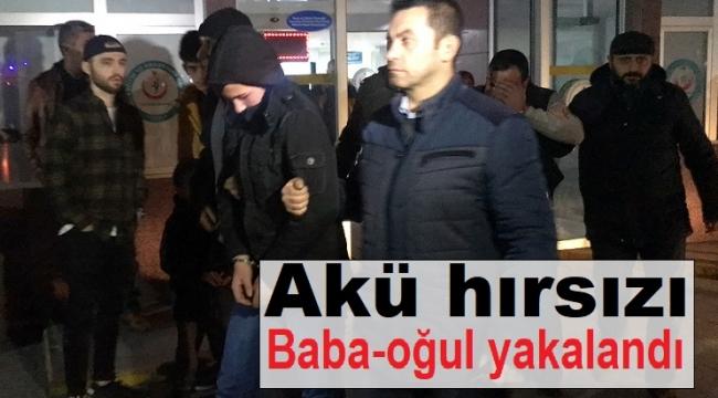 Konya'da araçlardan akü çalan baba-oğul yakalandı
