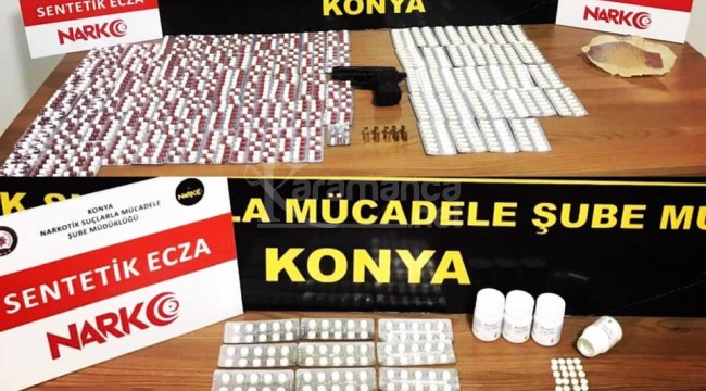 Konya'da sentetik ecza maddesi ele geçirildi