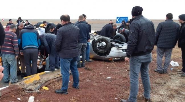 Konya'da trafik kazası 1 ölü, 8 yaralı