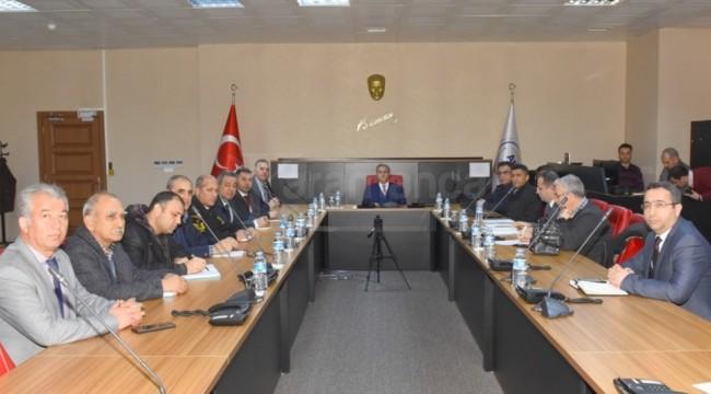 Mersin'de İl Afet ve Acil Durum Yönetim Merkezi toplandı