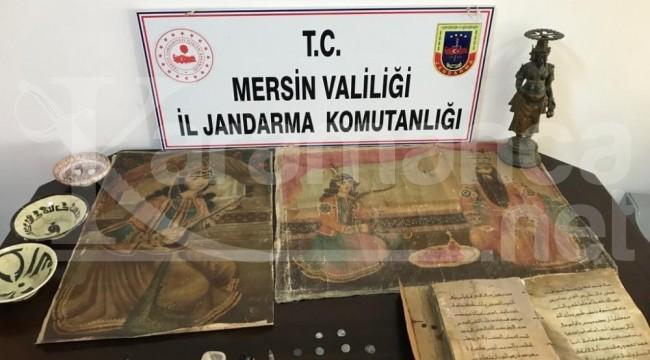 Mezitli'deki tarihi eser operasyonunda 2 gözaltı