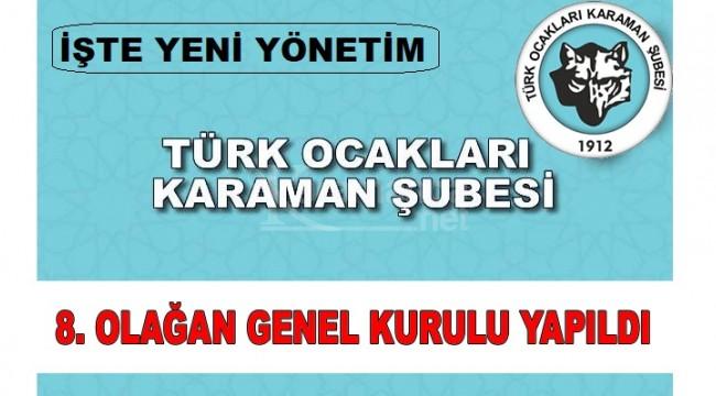 Türk Ocakları Karaman Şubesi'nde genel kurul yapıldı