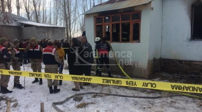 Van Erciş'teki yangında 2 küçük çocuk öldü