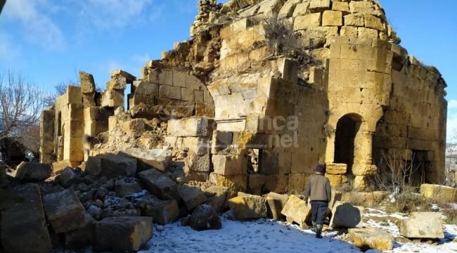 Dağpazarı Kilisesi'nin bir kısmı yağışlardan yıkıldı