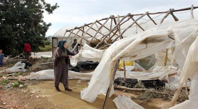 Erdemli'deki fırtınanın hasar tespiti