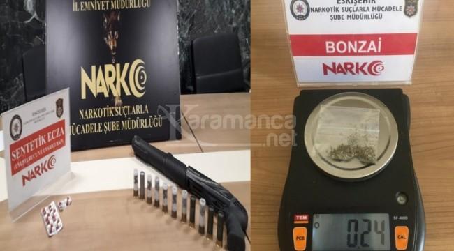 Eskişehir'deki uyuşturucu operasyonunda 4 gözaltı