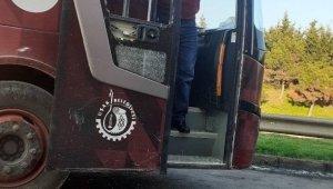 Eyüpspor taraftarları Uşakspor otobüslerini taşladı
