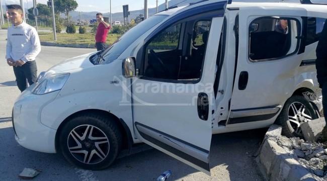 Karaçulha kavşağında trafik kazası 1 ölü, 1 yaralı