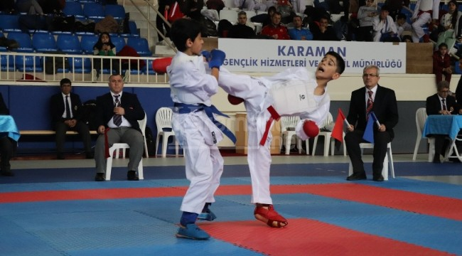 Karaman'da analig karate grup müsabakaları