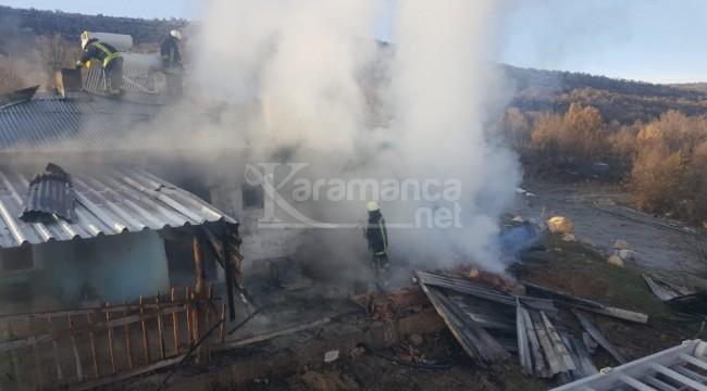 Karaman'da ev yangını korkuttu