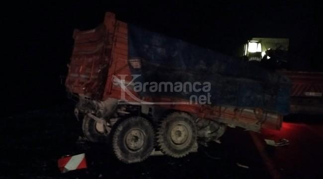 Karapınar'da TIR ile traktör çarpıştığı kazada 1 ölü