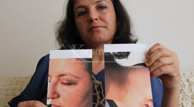 Kocasının boğazına bıçak dayayıp rehin aldığı kadın