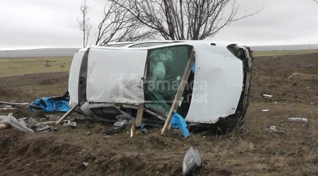 Kulu'da otomobilin devrildiği kazada 1 ölü, 1 yaralı