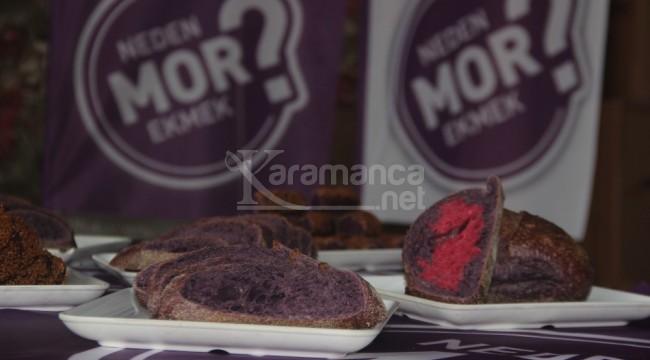 Mor ekmek Konya'da satışa çıktı