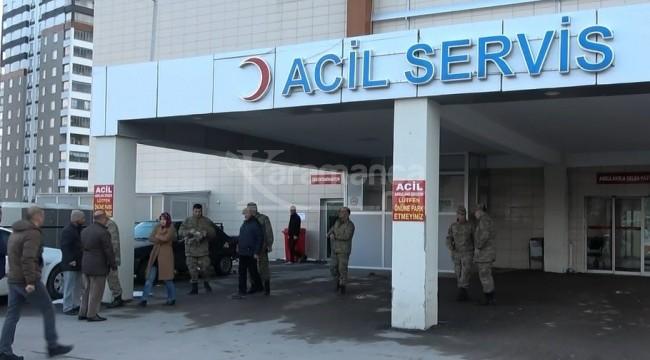 Niğde Bor'da koruma asker kendi tüfeğinden yaralandı
