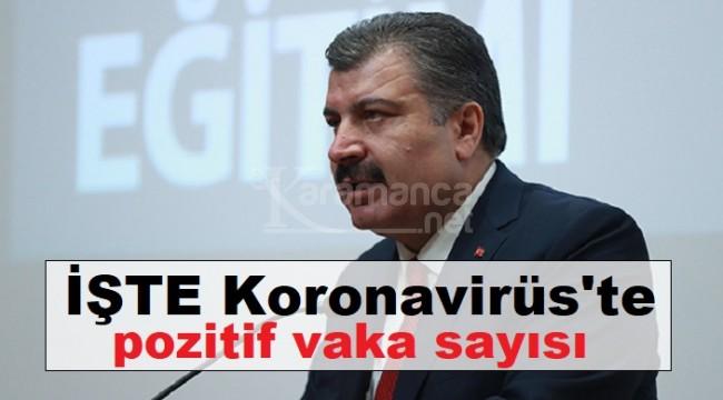 Türkiye'deki Koronavirüs pozitif vaka sayısı arttı