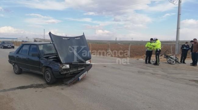 Karaman organize yolundaki kazada 2 yaralı