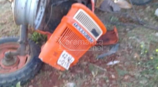Ahırlı'da devrilen traktörde aynı aileden 9 yaralı