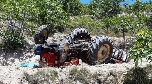 Devrilen traktörün altında kalan Orhan Gündüz öldü