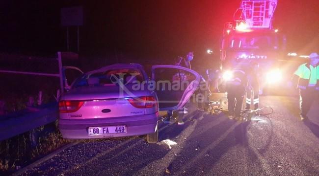 Ereğli makas kavşağındaki kazada sürücü öldü