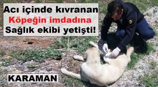 Karaman'da 112 acil yardım ekibinden duygulandıran hareket