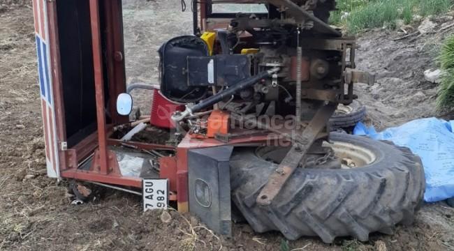 Kullandığı traktör devrilince Fatma Kızıloğlu öldü
