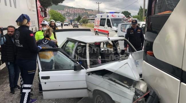 Otomobil ile servis otobüsünün karıştığı kazada İsmigüzel Şahin öldü