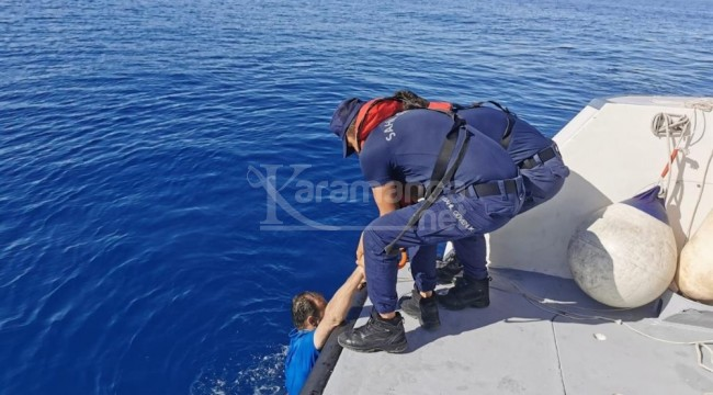Yunanistan'a yüzerek geçmeye çalışınca!