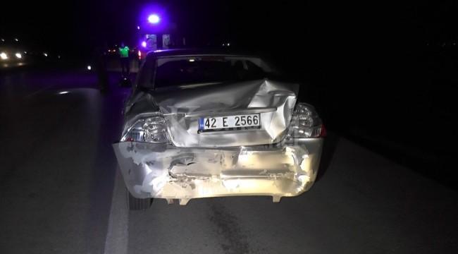 Ereğli'de TIR'ın çarptığı otomobildeki 3 kişi yaralandı