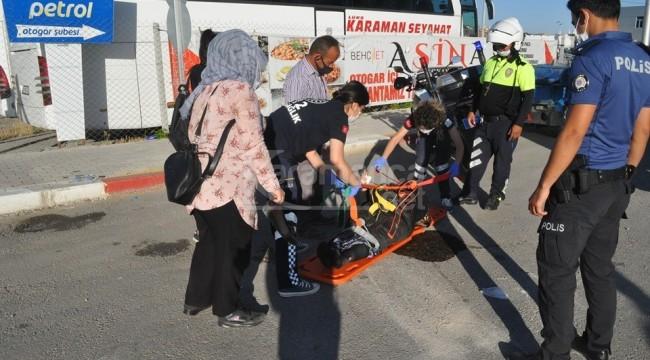 Karaman'da devrilen 3 tekerli motosiklette 4 yaralı