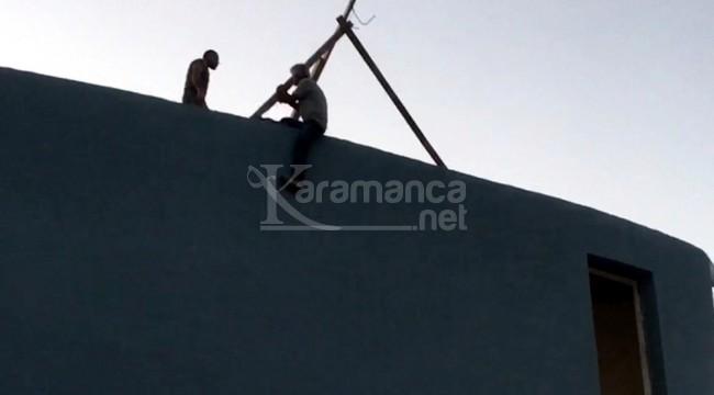 Spor salonu inşaatı çalışanı parasını alamadığından intihara kalkıştı