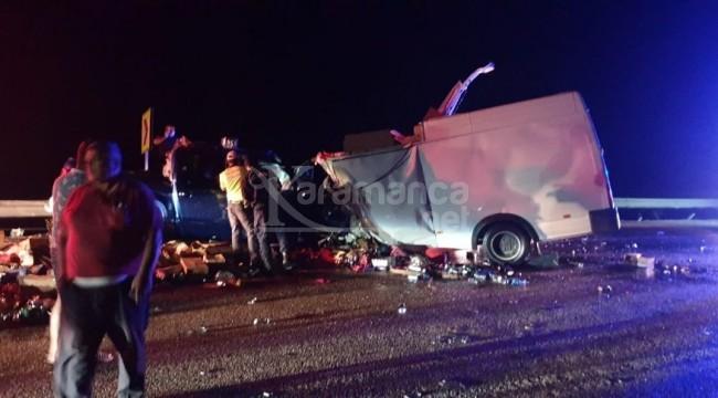 Akseki-Konya yolundaki kazada 2 ölü, 4 yaralı