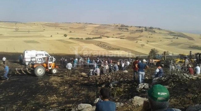 Alevlerin arasında kalan Ramazan Özbek yanarak öldü