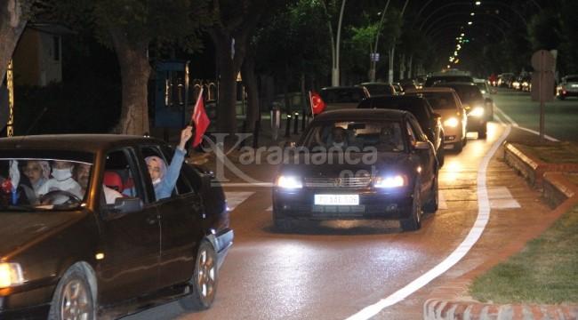 Ayasofya kararı Karaman'da düzenlenen konvoyla kutlandı