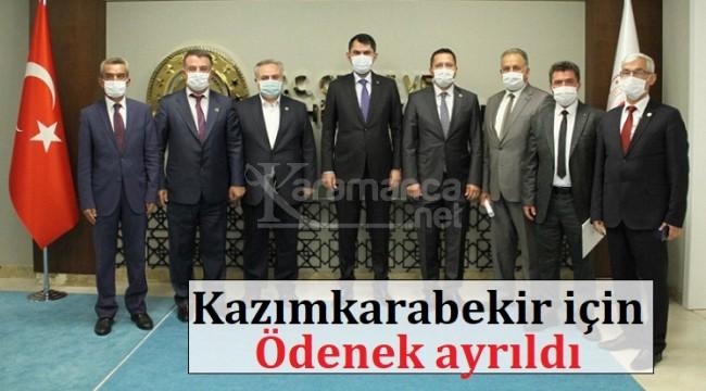 Bakan Kurum Kazımkarabekir'e ödeneğin ayrıldığını söyledi