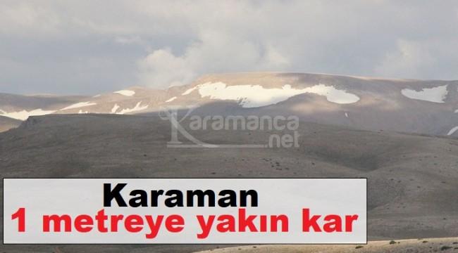 Bolkar Dağı'ndaki kar Temmuz'a direniyor