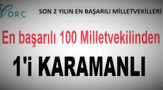 En başarılı 100 milletvekilinden 1'i Karamanlı